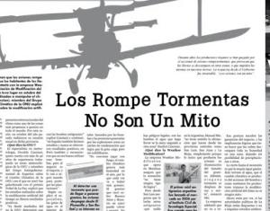 Aviones rompetormentas: ¿Mito o realidad?