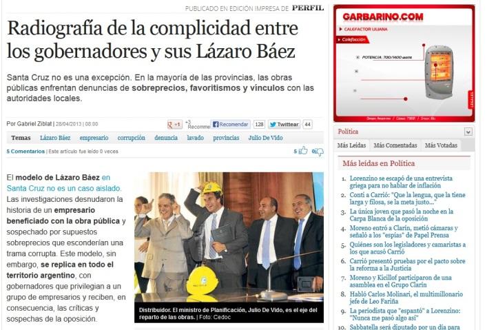 Radiografía de la complicidad entre los gobernadores y sus Lázaro Báez - Perfil
