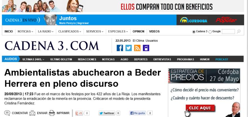 Ambientalistas abuchearon a Beder Herrera en pleno discurso