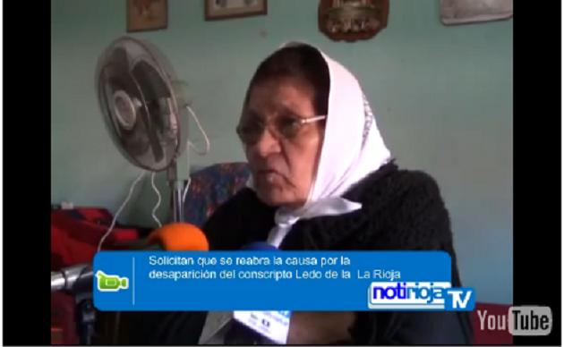 Marcela de Ledo dijo que desconocia que Milani habia estado en la Rioja y ahora solicitó la apertur