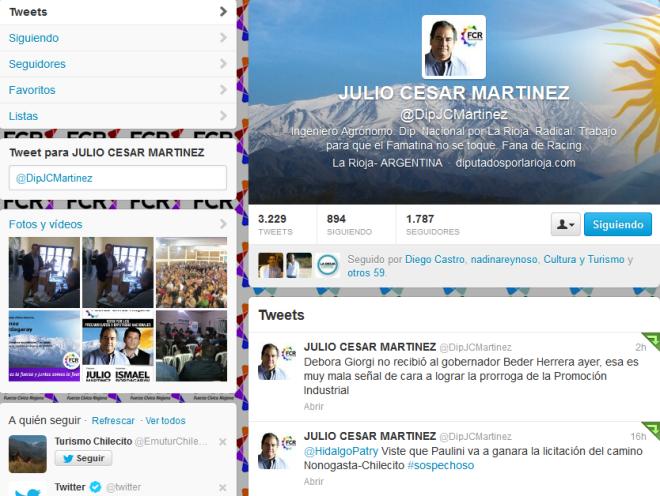 JULIO CESAR MARTINEZ (DipJCMartinez) en Twitter