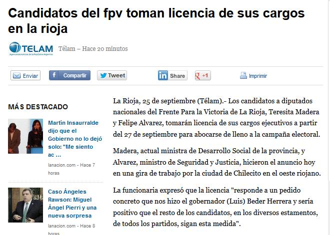 Candidatos del fpv toman licencia de sus cargos en la rioja - Yahoo Noticias Argentina