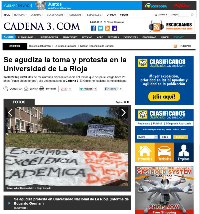 Se agudiza la toma y protesta en la Universidad de La Rioja