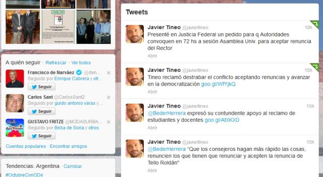 Javier Tineo (javiertineo) en Twitter