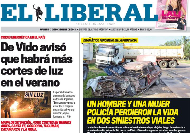 Tapa edición impresa Error Url invalida... - El Liberal