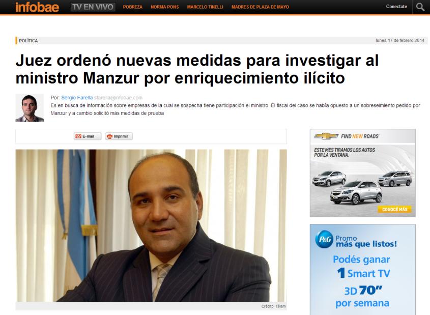 Juez ordenó nuevas medidas para investigar al ministro Manzur por enriquecimiento ilícito   Juan Manzur   Infobae