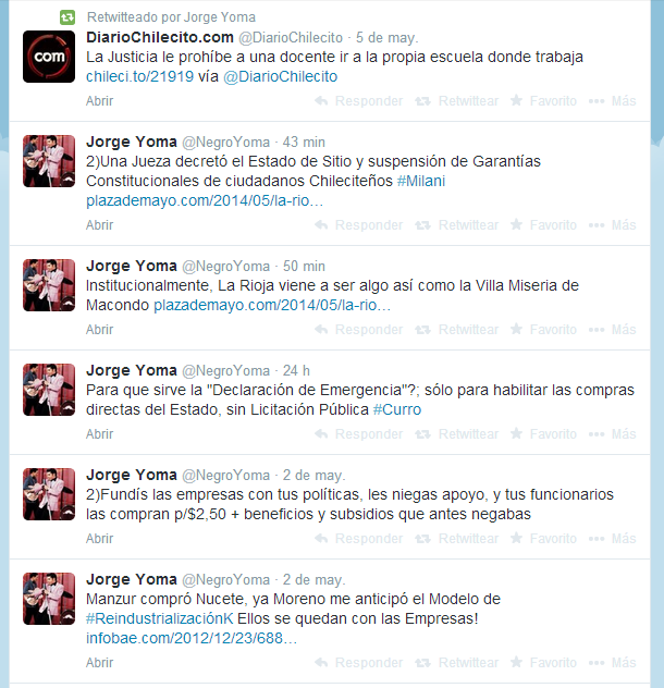 Jorge Yoma  NegroYoma  en Twitter