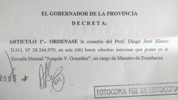 """Diego Illanes: """"La orden del gobernador fue cortarme la cabeza a mí y a mifamilia"""""""
