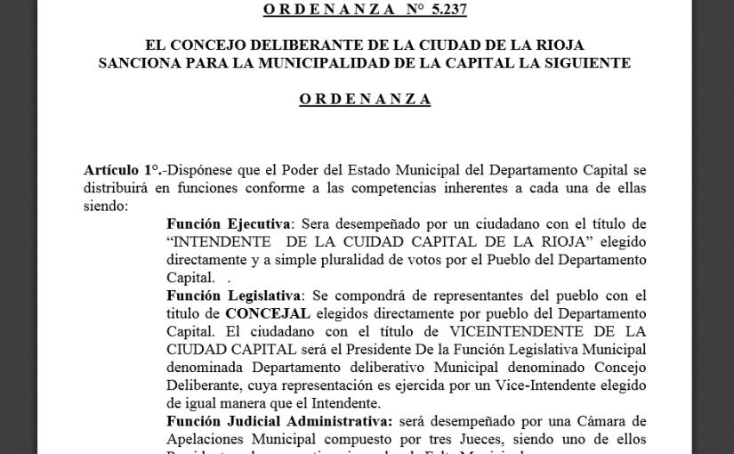 El Código Electoral de la ciudad de LaRioja