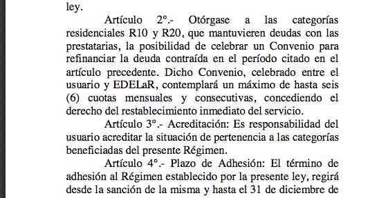 El 31 de diciembre venció la ley que impedía cortes de EDELaR y Aguas Riojanas