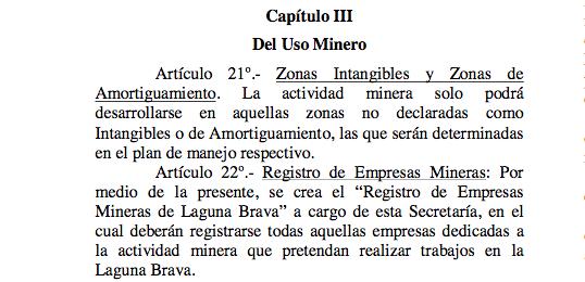 Autorizan la explotación minera en Reserva LagunaBrava