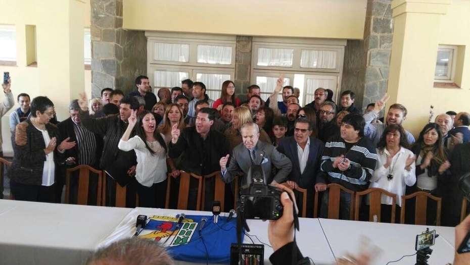 Menem presentó su nueva precandidatura a senador por La Rioja