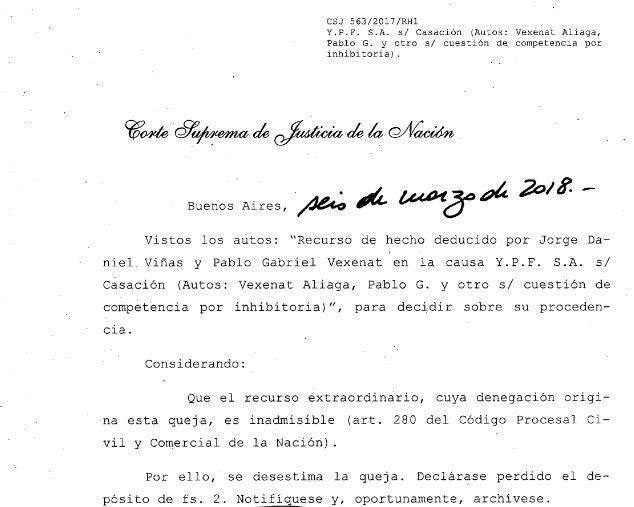 Screenshot-2018-3-8 Y P F S A s CASACIÓN (AUTOS VEXENAT ALIAGA PABLO G Y OTRO S CUESTION DE COMPETENCIA POR INHIBITORIA)
