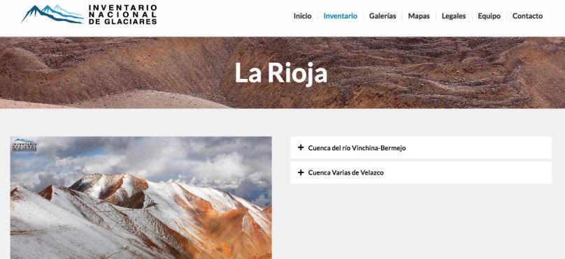 La Rioja Inventario Nacional de Glaciares