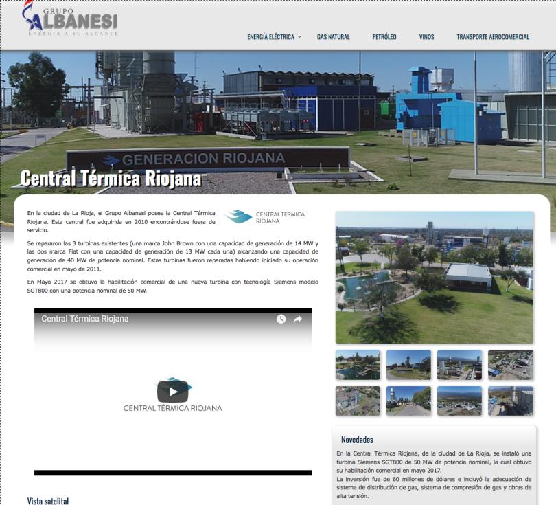 Central Térmica Riojana Energía Eléctrica Grupo Albanesi
