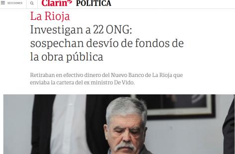 Investigan a 22 ONG sospechan desvío de fondos de la obra pública 02 09 2016 Clarín.com