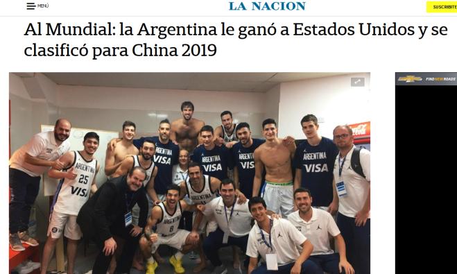 Al Mundial la Argentina le ganó a Estados Unidos y se clasificó para China 2019 LA NACION
