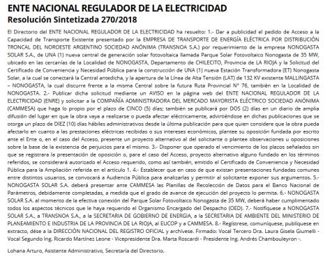 BOLETIN OFICIAL REPUBLICA ARGENTINA