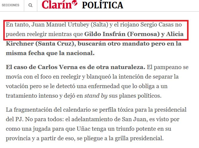 Ocho gobernadores del PJ van por su reelección y se desmarcan de la presidencial 01 11 2018 Clarín.com