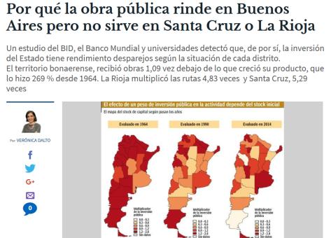 Por qué la obra pública rinde en Buenos Aires pero no sirve en Santa Cruz o La Rioja El Cronista