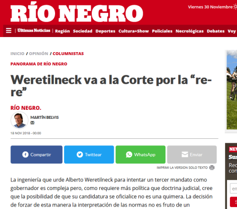 """Weretilneck va a la Corte por la """"re re"""""""