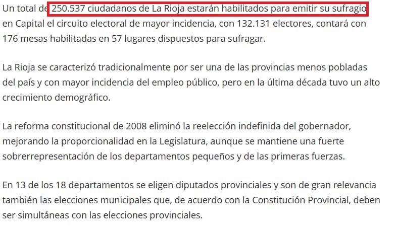 El FpV y alianza opositora polarizan comicios en La Rioja Elecciones 2015
