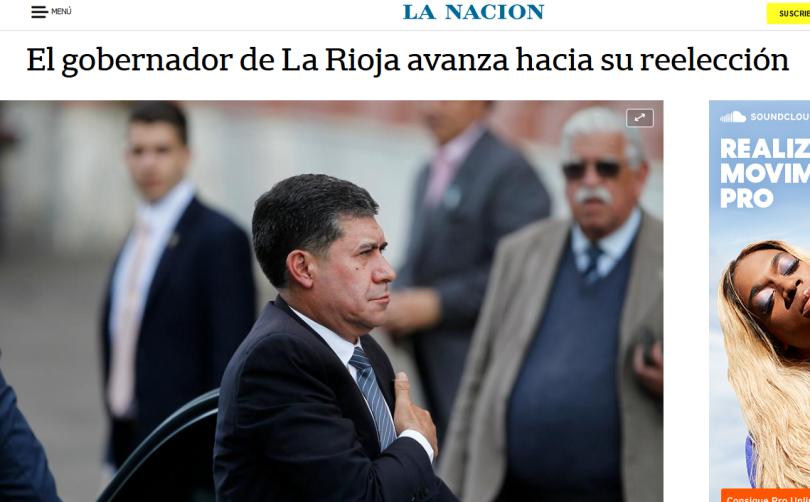 El gobernador de La Rioja avanza hacia su reelección LA NACION