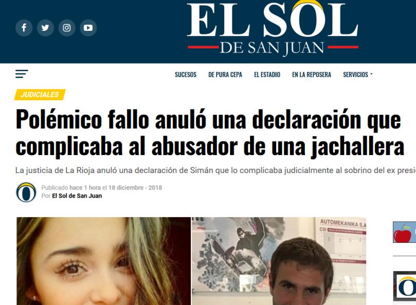 Polémico fallo anuló una declaración que complicaba al abusador de una jachallera – EL SOL DE SAN JUAN