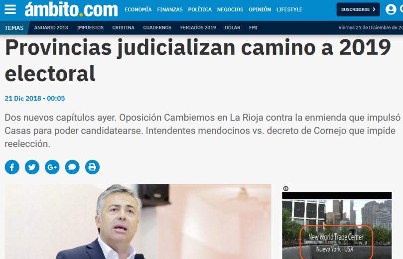 Provincias judicializan camino a 2019 electoral Cambiemos carta Corte Suprema Elecciones FPV Gobernador