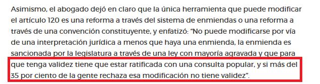 Re reelección Pedro Carreño remarcó que no se puede hacer decir a la Constitución lo que no dice(1)