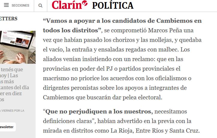 Catarsis acuerdos y postergaciones en la cena entre macristas y radicales 05 12 2018 Clarín.com
