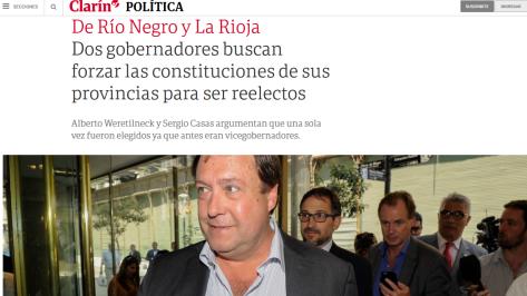 Dos gobernadores buscan forzar las constituciones de sus provincias para ser reelectos 02 12 2018 Clarín.com