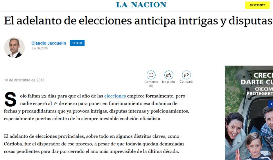 El adelanto de elecciones anticipa intrigas y disputas LA NACION