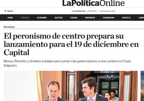 El peronismo de centro prepara su lanzamiento para el 19 de diciembre en Capital