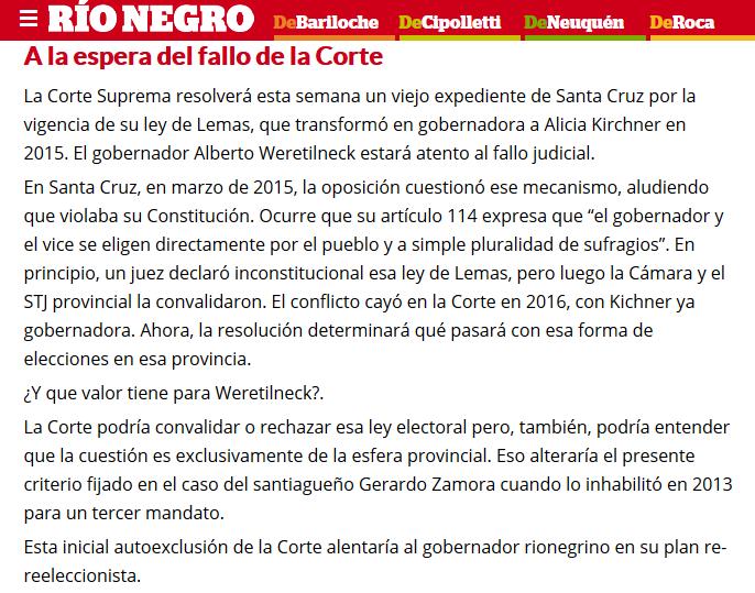 El peronismo de Pichetto busca sumar a Weretilneck y Gutiérrez(1)