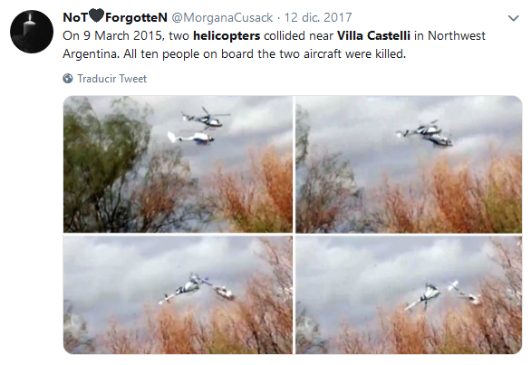 helicoptero villa castelli Búsqueda de Twitter