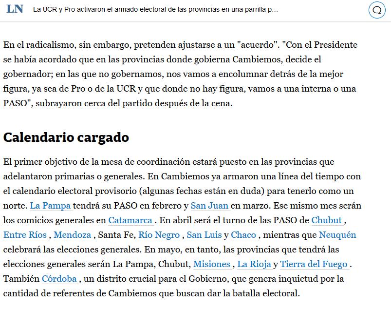 La UCR y Pro activaron el armado electoral de las provincias en una parrilla palermitana LA NACION