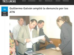 Guillermo Galván amplió la denuncia por los ATN