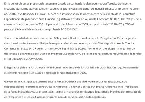 Guillermo Galván amplió la denuncia por los ATN(1)