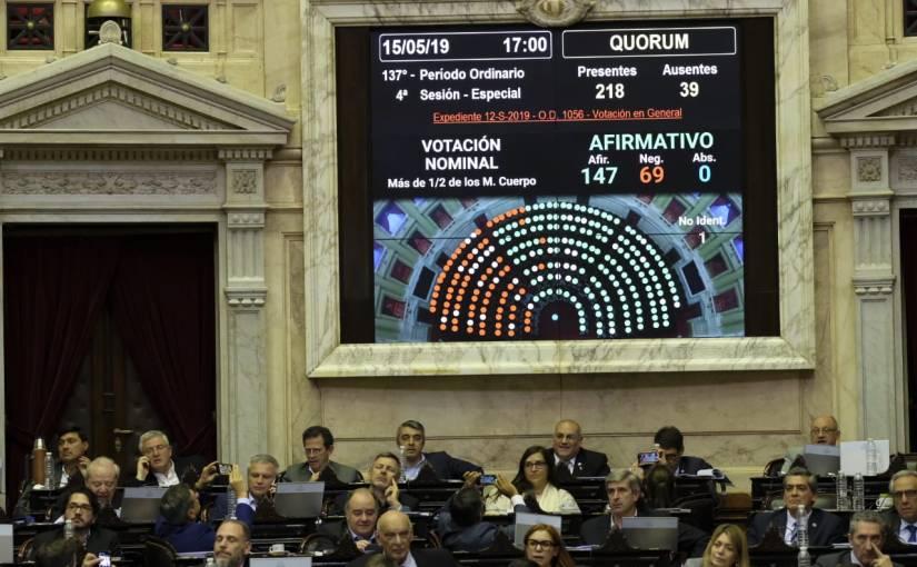 La Cámara de Diputados renueva en estas elecciones 130bancas