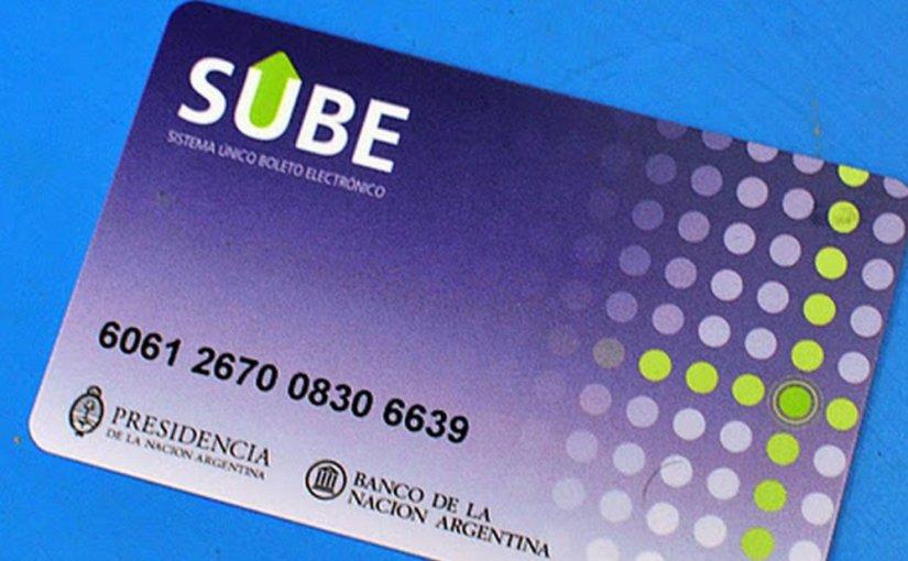 La tarjeta de transporte SUBE se implementará en todo elpaís