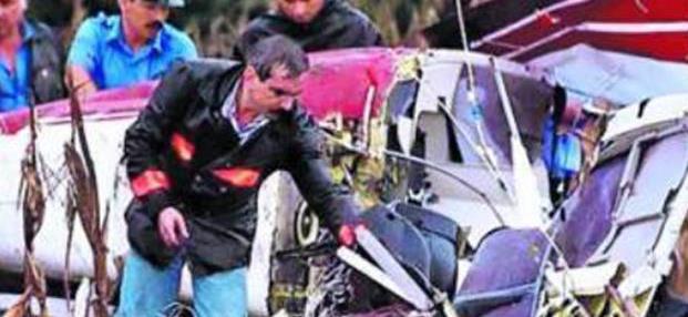 Descartaron balazos al helicóptero de MenemJunior
