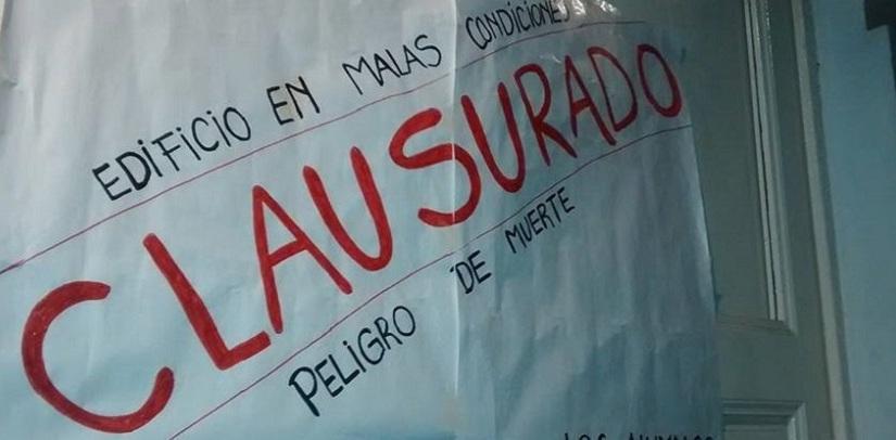 Profesorado: piden que la Justicia clausure edificio de calleCopiapó