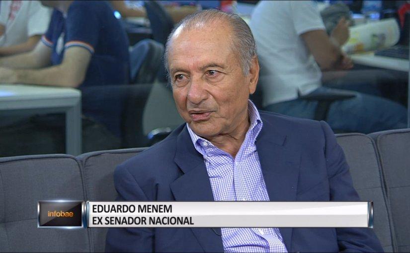 """Eduardo Menem: """"Fue una parodia de Internas y por eso la gente noparticipó"""""""