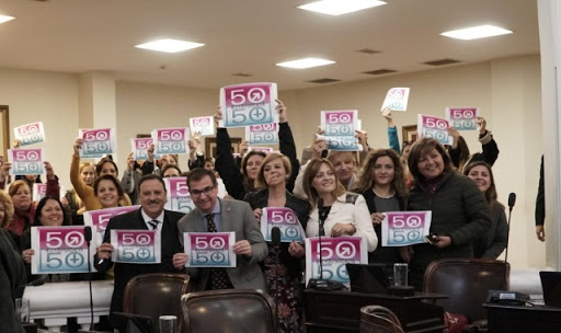 Mujeres del PJ de La Rioja presentaron en la Legislatura la ley de paridad degénero